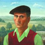 Ivan Generalić, Autoportret, 1953., ulje/lesonit, 420 x 415 mm, vl. Muzej grada Koprivnice (MGKc-HLB-415).