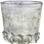 Koprivnica - Franjevački samostan, novi vijek - staklena gravirana čaša, MGKc 9543